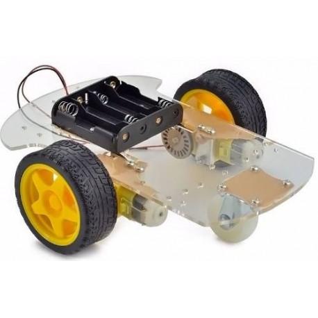 Kit chasis 2 ruedas motorizadas