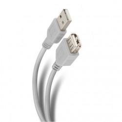 Cable USB macho-hembra 3 m