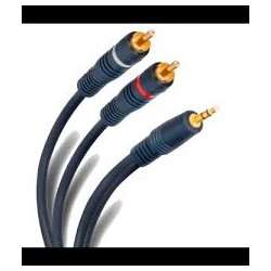 Cable 3.5 a rca negro