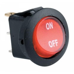 Switch balancin redondo rojo con piloto 120V