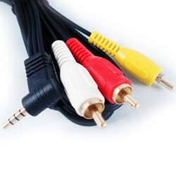 Cable 3.5 a 2 RCA  A/V