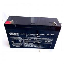 Batería recargable 6V 12 Ah